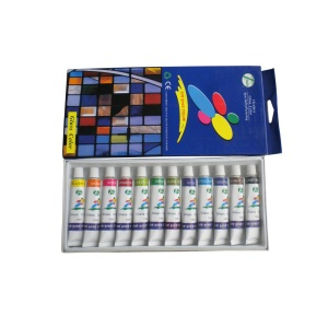 12 Colors Glass Paint Set for Student