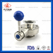 Food Grade Stainless Steel Sanitary Manual Butterfly Valve