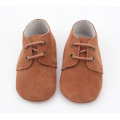 Unisex design Soft Suede Leather Shoelace Crib Shoes