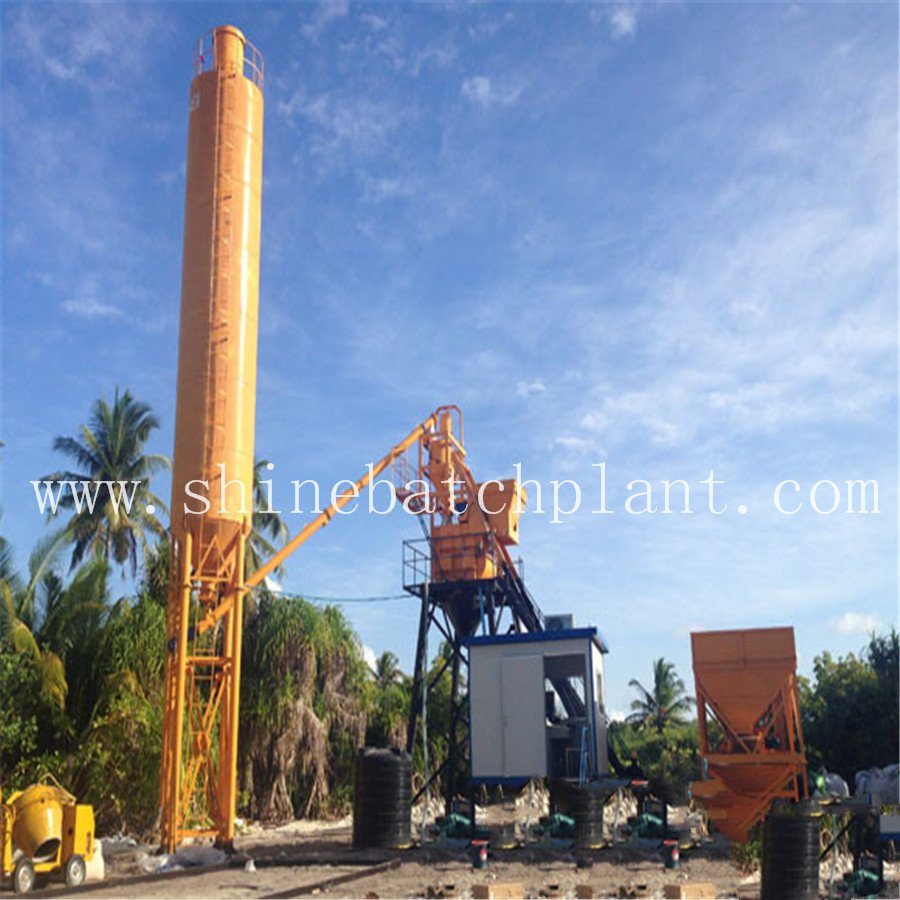 Stationary 40 Concrete Batch Machinery For Sale