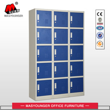 Leading for Steel Lockers 15 Doors Blue Metal Locker supply to Serbia Wholesale