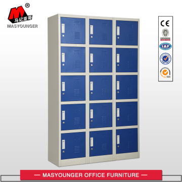 15 Doors Blue Metal Locker