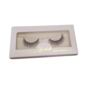Gold Hot Stamping Custom Paper Lash Box