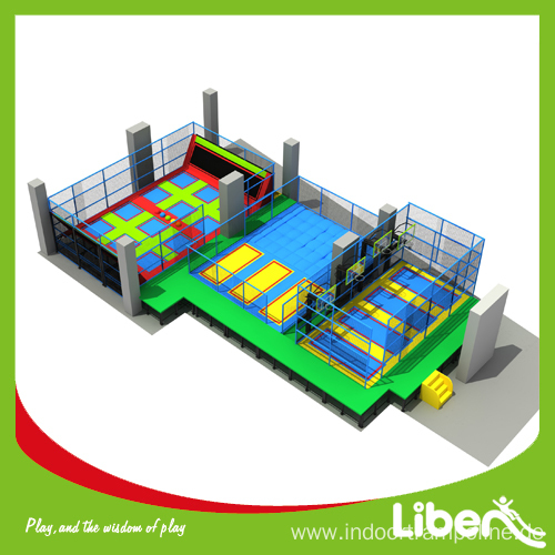 High Quality Fitness Indoor Commercial Trampolines Park for Sale