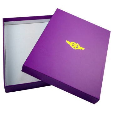 Custom Purple Garment Packaging Box