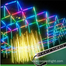 Programmable DMX led vertical 3D tube disco