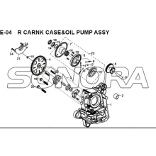 E-04 R CARNK CASE OIL PUMP ASSY JET 14 XS175T-2 For SYM Spare Part Top Quality