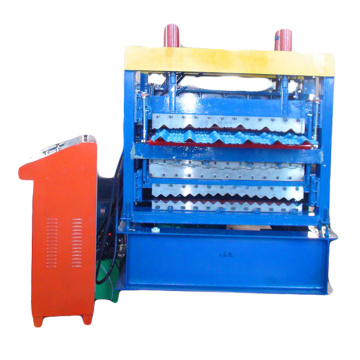 Three layer roll forming machine for steel sheet