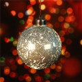 Led Light Up Christmas bola de cristal bola de Navidad