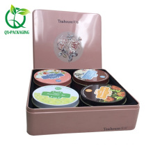 Square decorative tea tins