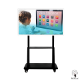 55 Inches 4K Touch Monitor with mobile stand