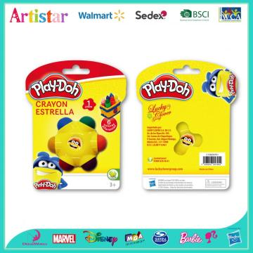 Play-Doh 6-color petal crayons