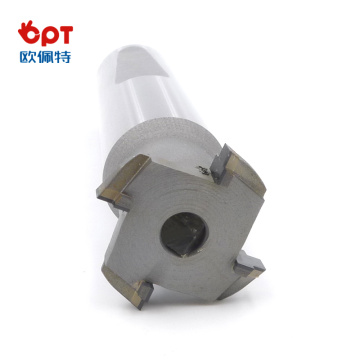 PCD slotting end forming tool for lathe