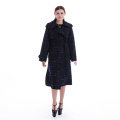 Sapphire Plaid cashmere overcoat