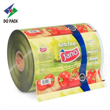 Tomato Sauce Customized Printing Packaging Roll Stock