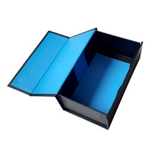 Foldable Custom Cardbaord Blue Gift Box