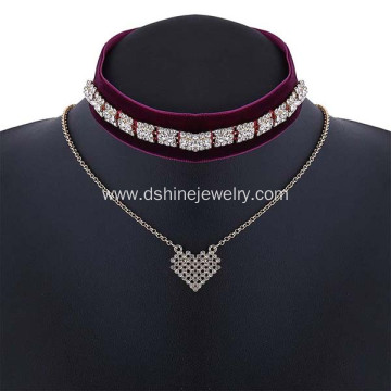 Vintage Velvet Choker Necklaces For Women Pendant Necklace
