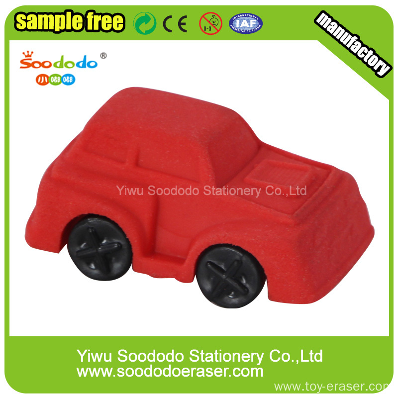 Car Shaped School Supply Stationery Erasers