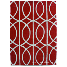 Hand Tufted Carpet with Geometry Design