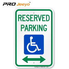 reflective reserved parking sign