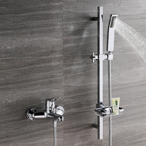 Pure Brass Bathtub Faucet With Sliding Bar