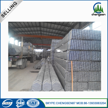 Rich Stock Galvanized Rectangular Plastic Tube