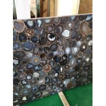 grey agate side table --semi precious
