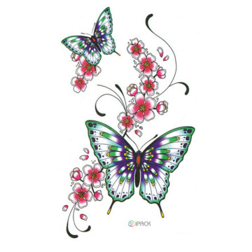Sexy Adult Body Butterfly Tattoo Stickers