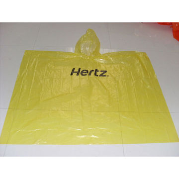 PE Yellow Promotion Rain Poncho