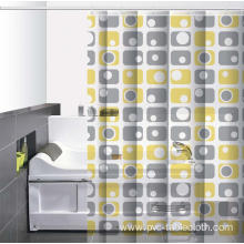 Waterproof Bathroom printed Shower Curtain Holder