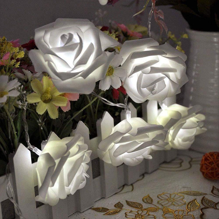 rose flower holiday string led party light