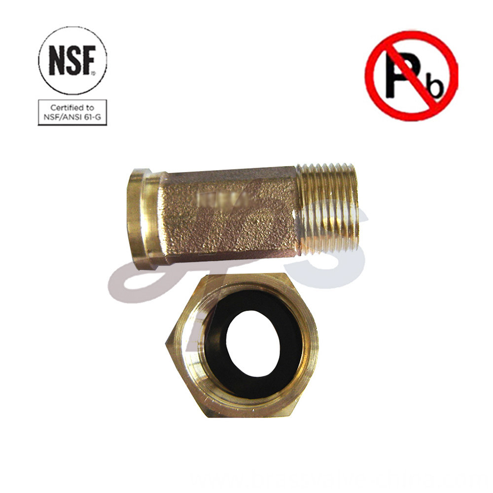 Nsf 61 Lead Free Brass Water Meter Fitting