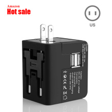 Dual usb 2.1A universal travel adapter