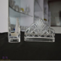 Pattern Transparency Glass Napkin Holder