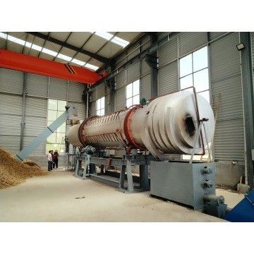 Rotary carbonization furnace  Charcoal machine