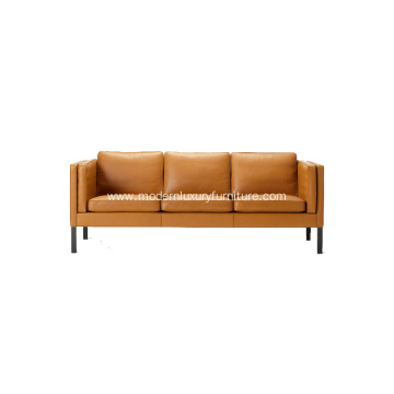 Good Quality for Modern Leather Sofa European style Three Seater Sofa Reproduction export to France Exporter