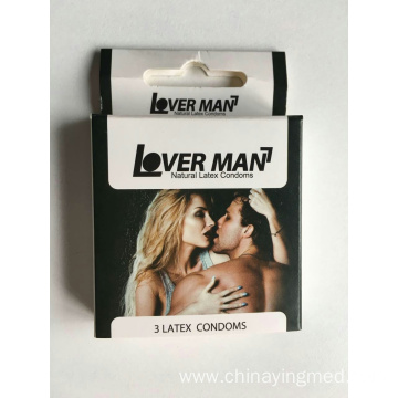 Disposable natural male latex condom