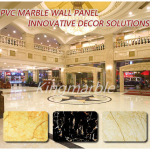 Factory directly for Perforated Pvc Wall Marble Panels hot sale 2440 pvc marbling wall sheet for interior supply to Bangladesh Supplier