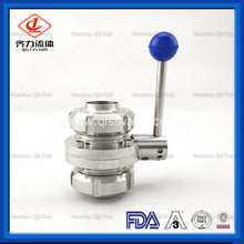 Sanitary Stainless Steel Butterfly Valve with Multi-Position Handle