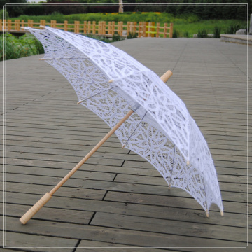 Handtailor high-end lace wedding white lace umbrella