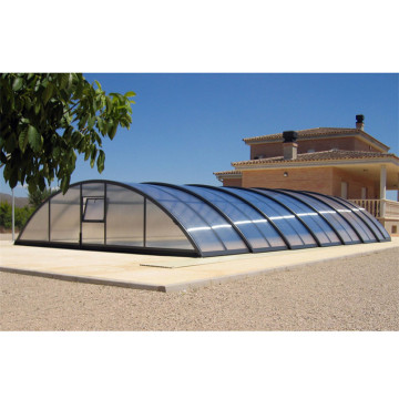 Swimming Polycarbonate Retractable Pool Roof