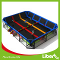 kids enclosed spring trampoline place