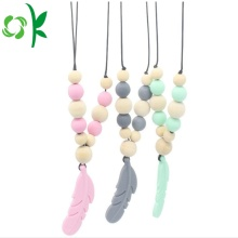 Newest Silicone Leaf Teether Baby Toys Silicone Beads