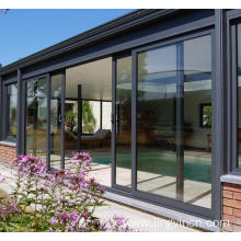 China for China Aluminum Sliding Doors,Aluminium Sliding Patio Doors,Aluminum Sliding Glass Doors Supplier Hot Modern Aluminum Glass Sliding Door supply to Netherlands Suppliers