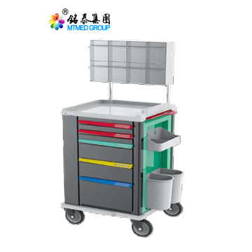 Anesthesia cart with several drawer