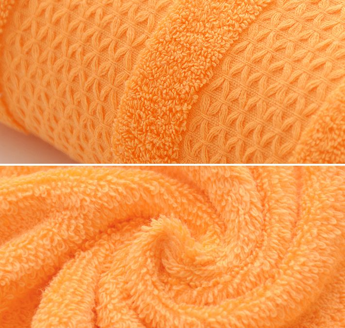 Solid Orange Color Towel