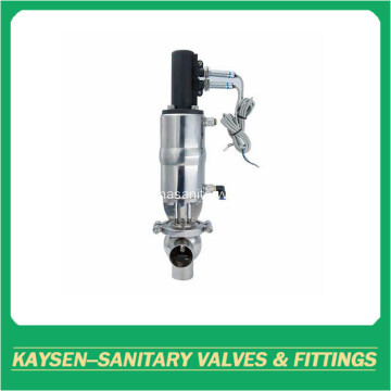 Clamp Sanitary 3 ways double seat mixproof valves