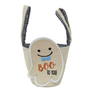 Halloween white ghost pattern candy basket