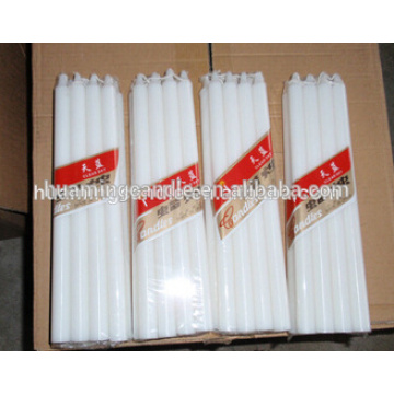 white candle household paraffin wax candle