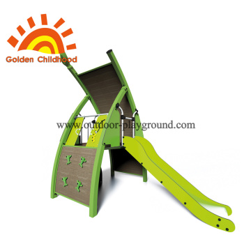 Green Single Panel Slide Playground Equipment For Sale